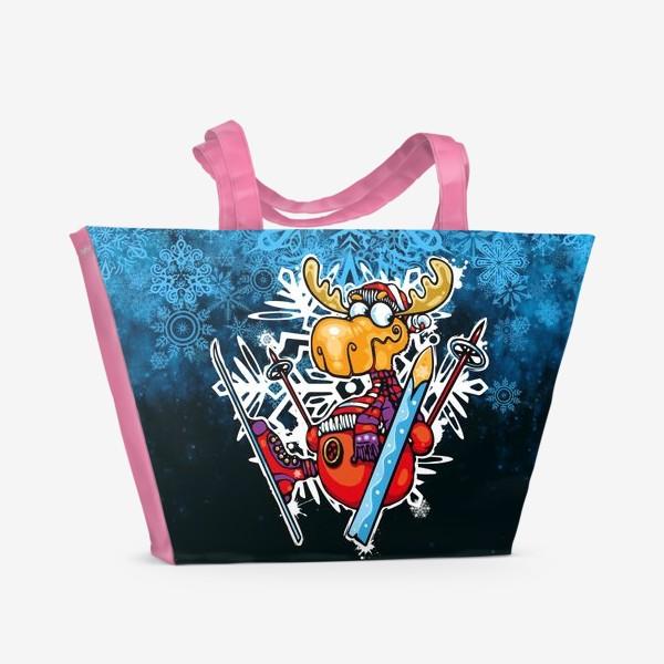 Пляжная сумка «Смешной олень»
