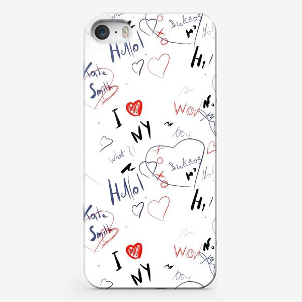 Чехол iPhone «Надписи »
