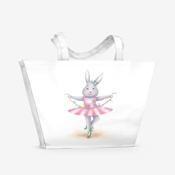 Пляжная сумка «Зайка-балерина»