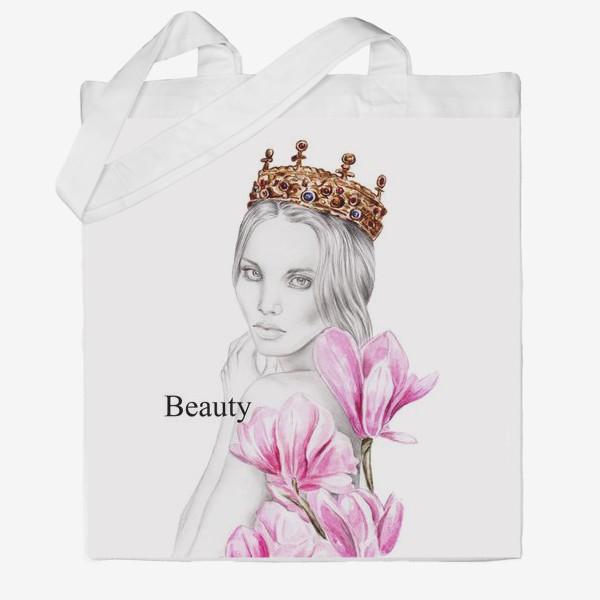 Сумка хб «Queen & Flowers»