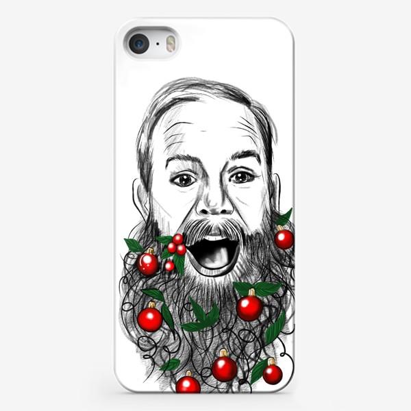 Чехол iPhone «С новым годом бородач »