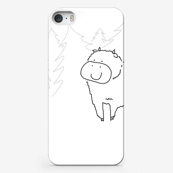 Чехол iPhone «Бычок в елках. 2021 год»
