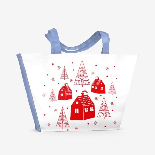 Пляжная сумка «Зима. Новый год»