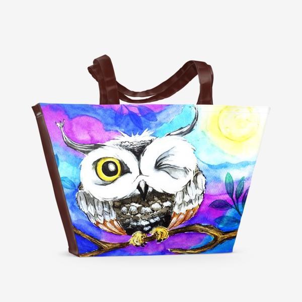 Пляжная сумка «Сова 1.»