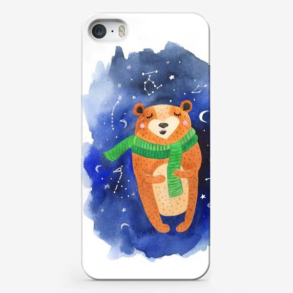 Чехол iPhone «Мишка-звездочет»