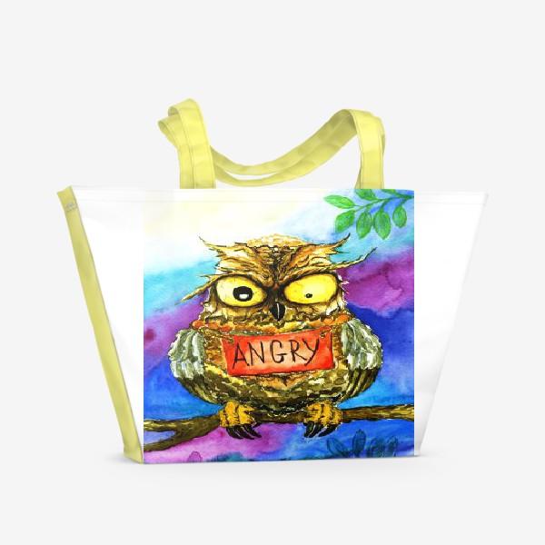 Пляжная сумка «Сова 2.»