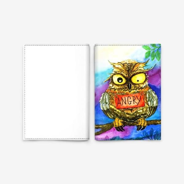 Обложка для паспорта «Сова 2.»