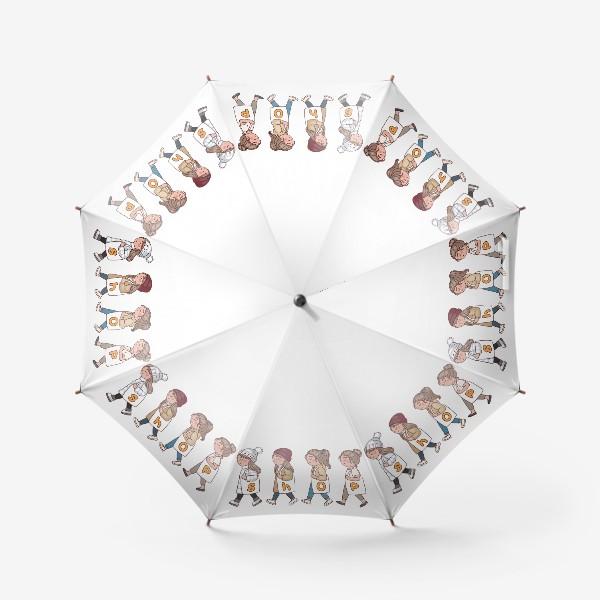 Зонт «шоппинг принт для сумки»