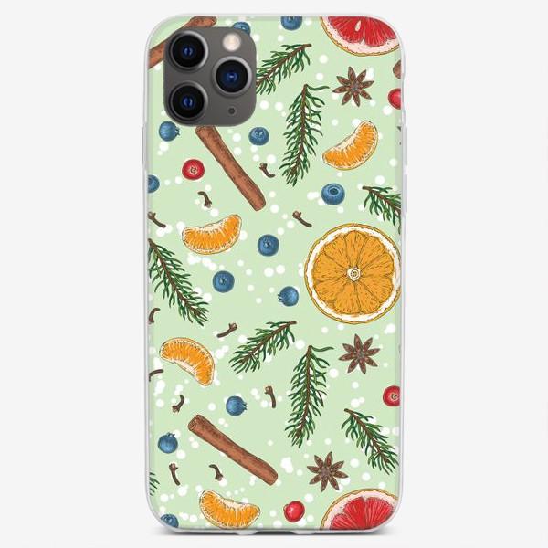 Чехол iPhone «Снежное зимнее утро»