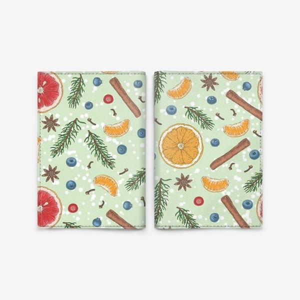 Обложка для паспорта «Снежное зимнее утро»