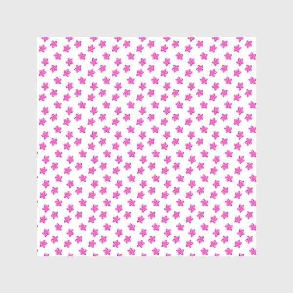 Скатерть «Паттерн мелкие розовые звёздочки»