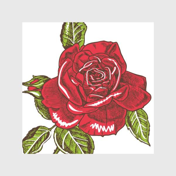 Скатерть «Графика красная роза»