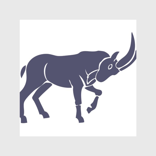 Скатерть «Козерог (козел бодается - силуэт)»