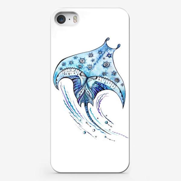 Чехол iPhone «Акварельная Манта»