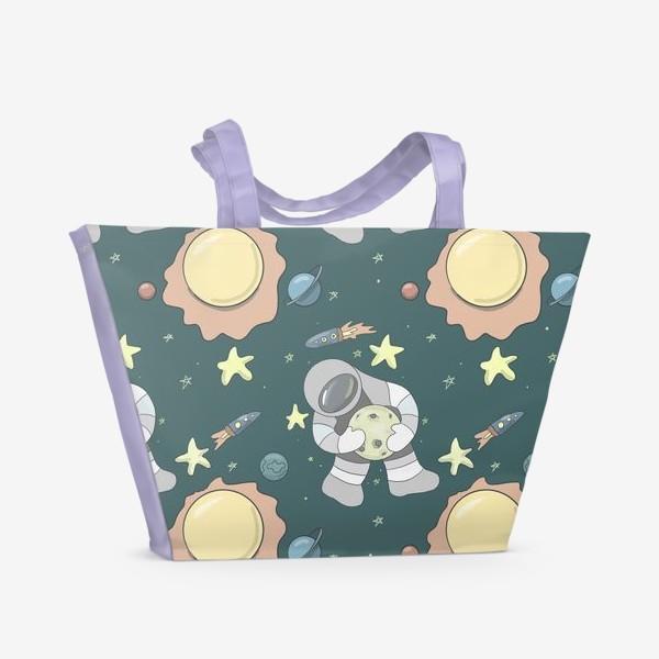 Пляжная сумка «Космический полёт »