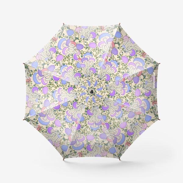 Зонт «Волшебные грибы в траве.»