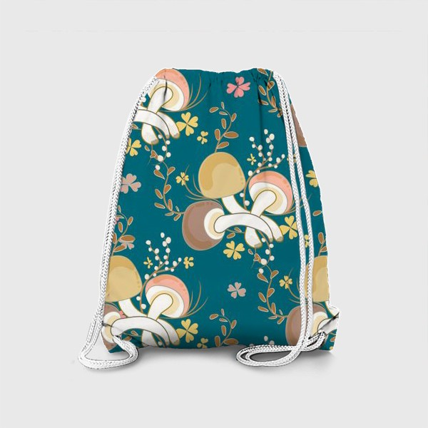 Рюкзак «Грибочки и листочки клевера.»