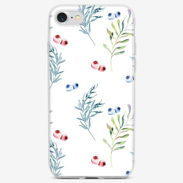 Чехол iPhone «веточки и ягоды»