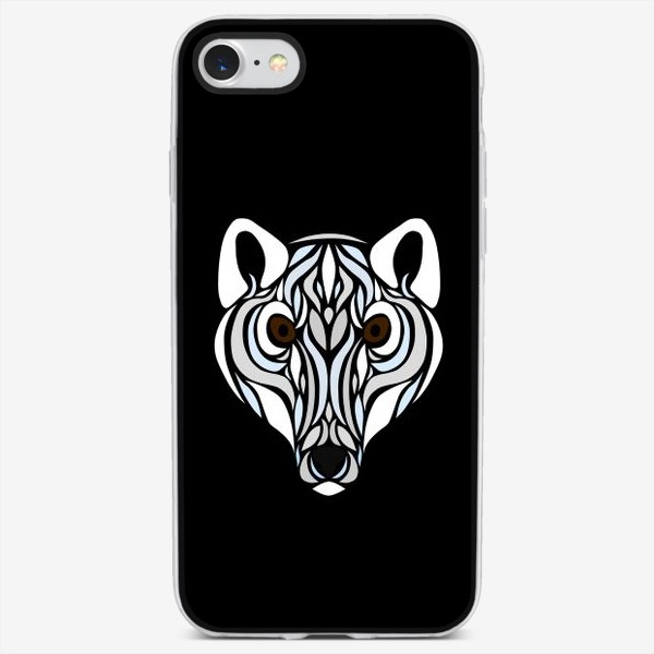 Чехол iPhone «Песец на черном»