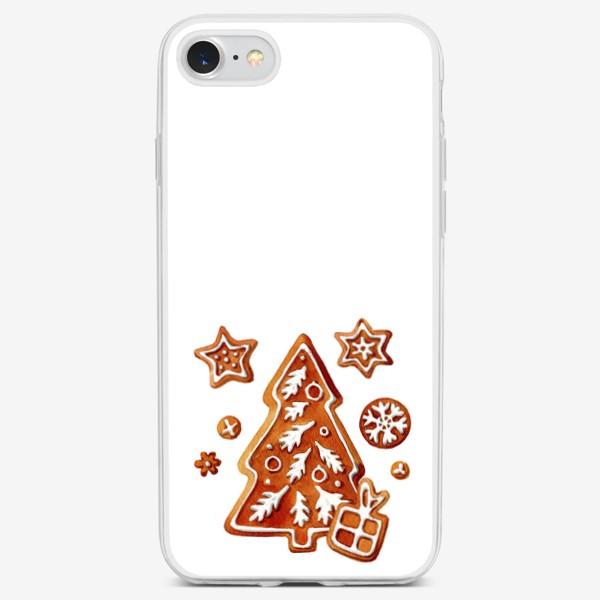 Чехол iPhone «Имбирная елочка»