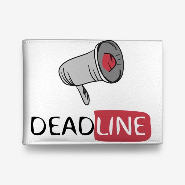 Кошелек «Deadline - Принт с мегафоном»