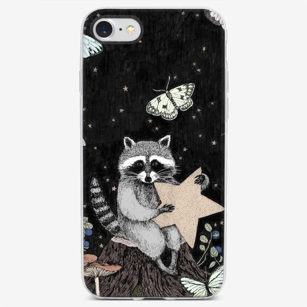 Чехол iPhone «Моя маленькая звезда. Енот»