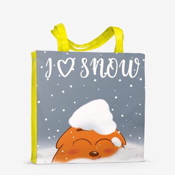 Сумка-шоппер «Кот в снегу»