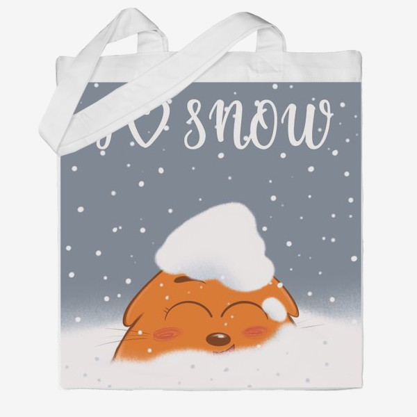 Сумка хб «Кот в снегу»