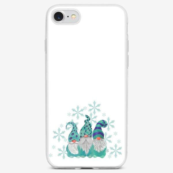 Чехол iPhone «Бирюзовые гномы»