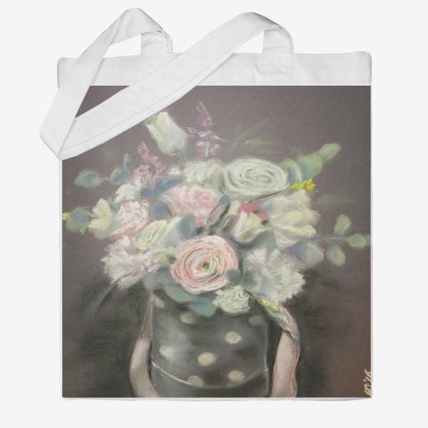 Сумка хб «Цветы в коробке»