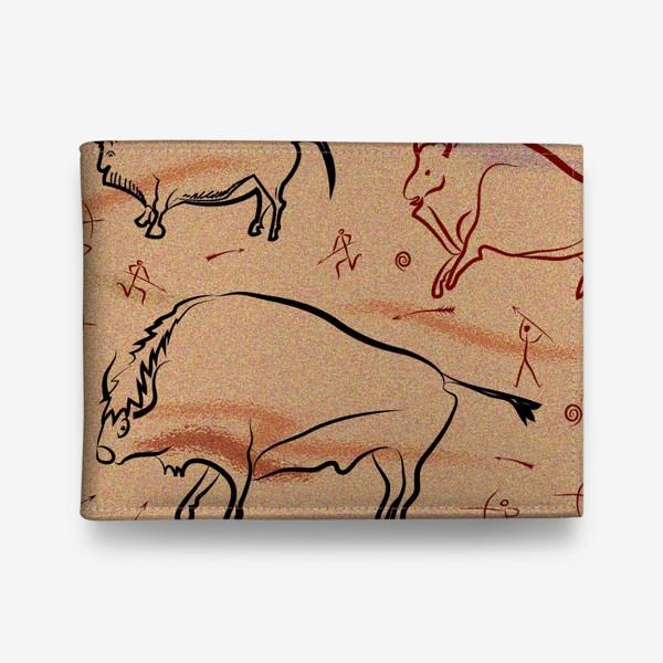 Кошелек «Охота на быков. Наскальная живопись.»