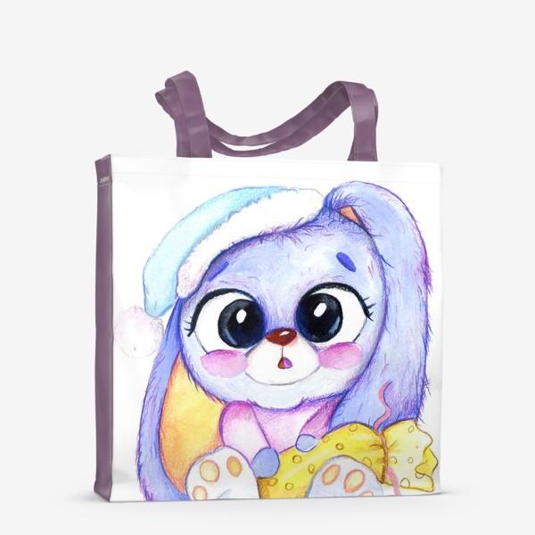 Сумка-шоппер «Зайка с подарком »