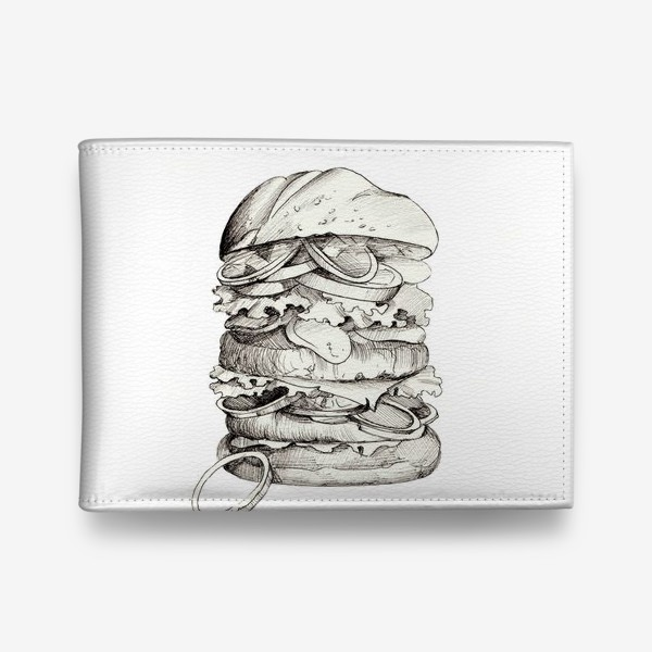 Кошелек «Бургер в графике»