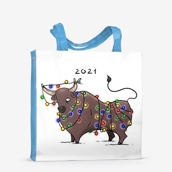 Сумка-шоппер «Бык с гирляндой. 2021 »