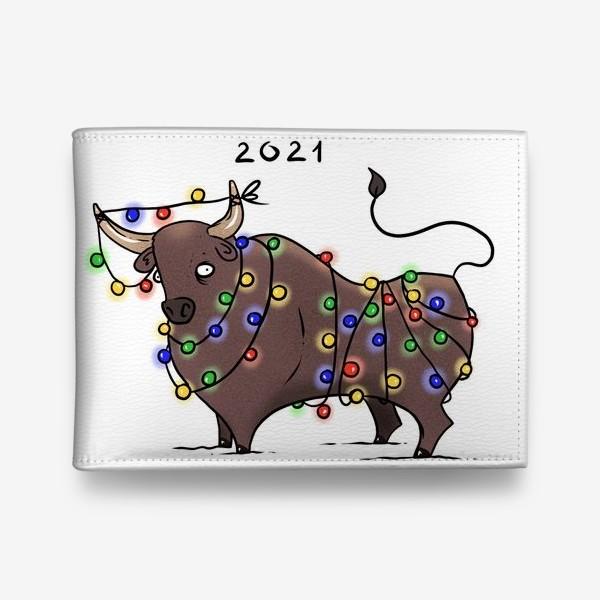 Кошелек «Бык с гирляндой. 2021 »