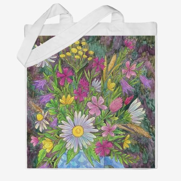 Сумка хб «Букет полевых цветов»