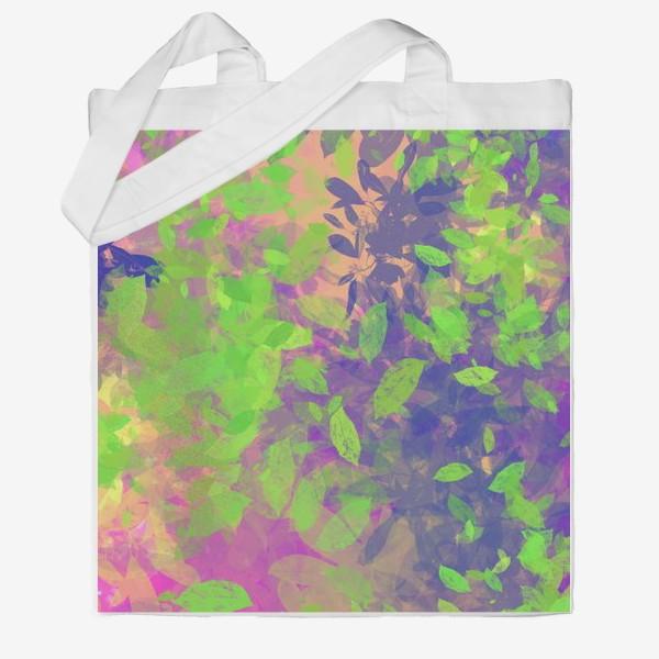 Сумка хб «Разноцветные листья»