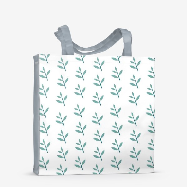 Сумка-шоппер «Зимние веточки паттерн»