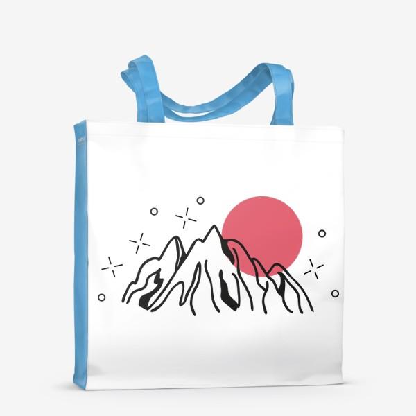 Сумка-шоппер «Горы на закате»