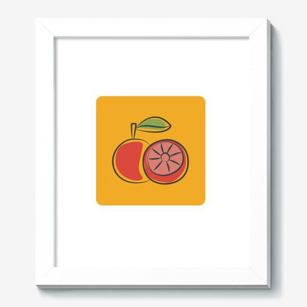Картина «Апельсин на желтом фоне »