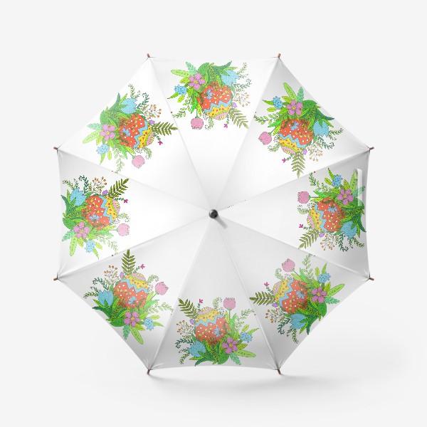 Зонт «Пасха яйцо и цветы»