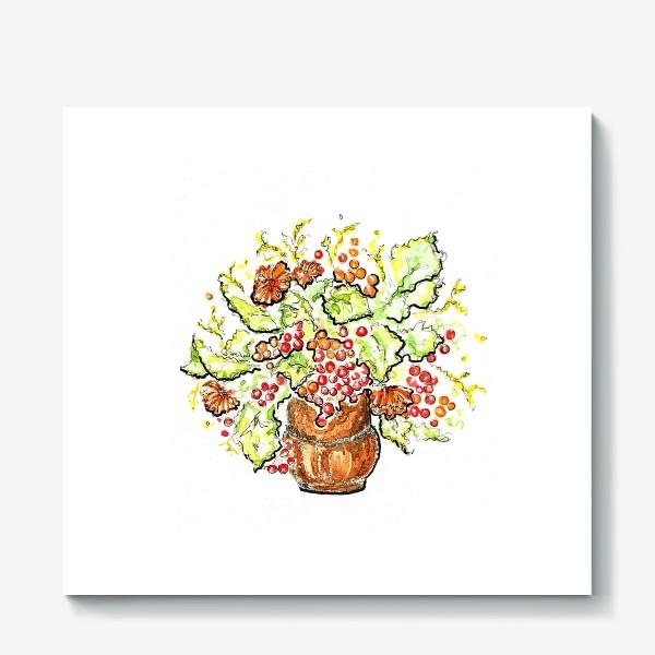 Холст «Осень в вазе»