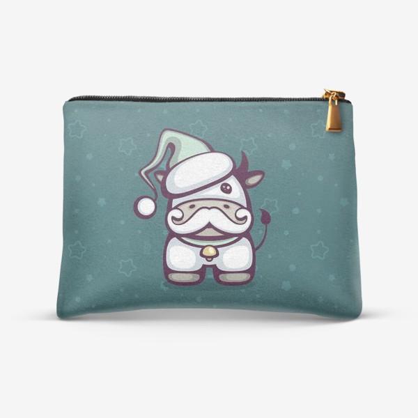 Косметичка «Cute Santa Bull»