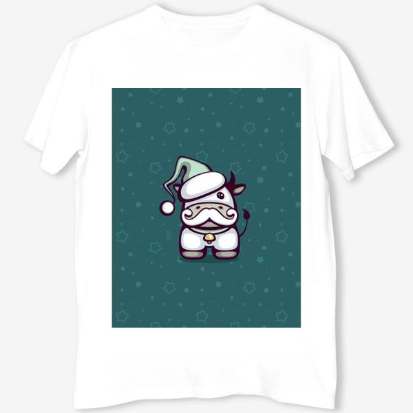 Футболка «Cute Santa Bull»