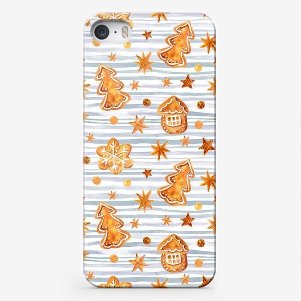 Чехол iPhone «Имбирное печенье и полоски»
