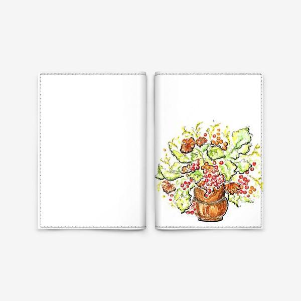 Обложка для паспорта «Осень в вазе»