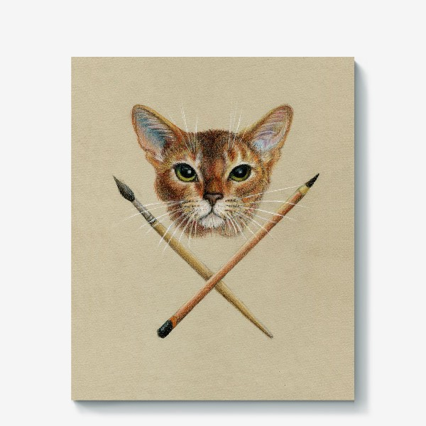 Холст «Абиссинский Кот Abyssinian Cat»