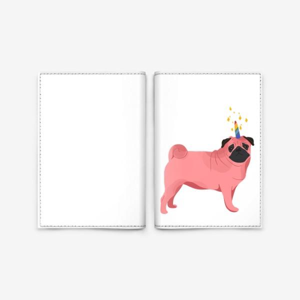 Обложка для паспорта «Волшебный Мопс»