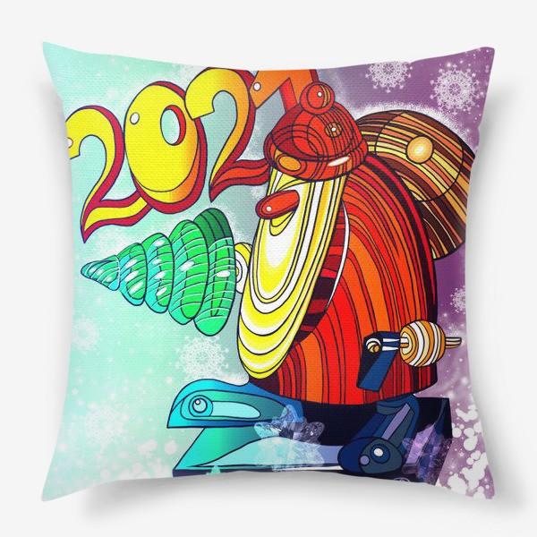 Подушка «Дед Мороз 2.0 - 2.1. День. Новогодняя сказка. Чудо. Волшебство.»