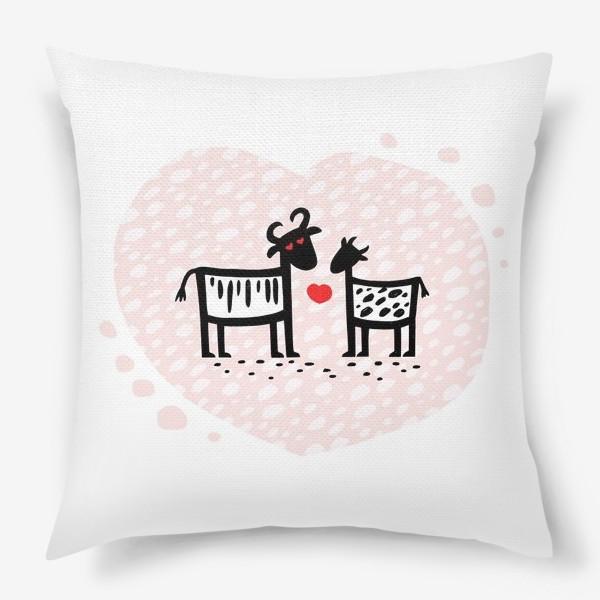Подушка «Парочка. Сердечко»